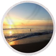 A New Day Begins Round Beach Towel