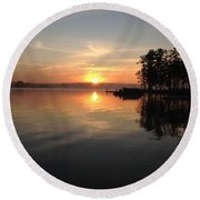 A New Day Round Beach Towel by M West