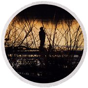 Round Beach Towel featuring the photograph A New Day by Robyn King