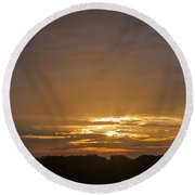 A New Day - Sunrise In Texas Round Beach Towel