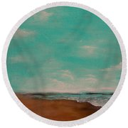 A Painting A Day #4 Round Beach Towel