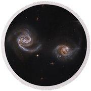 A Pair Of Interacting Spiral Galaxies Round Beach Towel