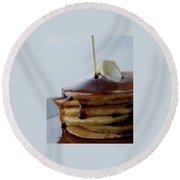 A Pancake Stack Round Beach Towel