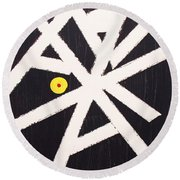 A Path Less Taken Round Beach Towel by Roberto Prusso