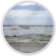 A Peek Of Blue Round Beach Towel