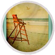 A Perfect Day Round Beach Towel