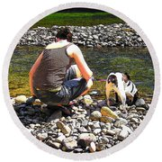 A Perfect Day Round Beach Towel by Micki Findlay