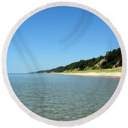 A Perfect Day On The Water Round Beach Towel