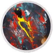 A Phoenix Reborn Round Beach Towel by Pg Reproductions