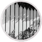 A Picket Fence Round Beach Towel