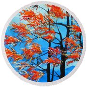 Round Beach Towel featuring the painting A Place To Get Away by Dan Whittemore