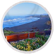 A Place To Reflect Round Beach Towel