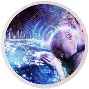 A Prayer For The Earth Round Beach Towel
