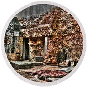 Round Beach Towel featuring the photograph A Quiet Place To Pray by Doc Braham