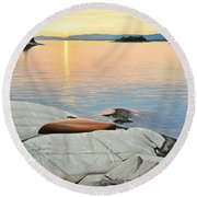 A Quiet Time Round Beach Towel