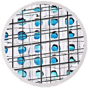 A Reflection Of Jardine House Round Beach Towel by Ethna Gillespie