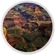 A River Runs Through It-the Grand Canyon Round Beach Towel