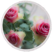 A Rose And A Rose And A Rose Round Beach Towel