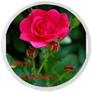 A Rose For Valentine's Day Round Beach Towel
