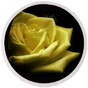 Round Beach Towel featuring the photograph A Rose For You by Bruce Bley