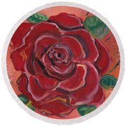 A Rose Is A Rose Round Beach Towel by John Keaton