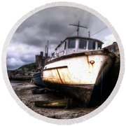Round Beach Towel featuring the photograph A Rough Ride by Doc Braham