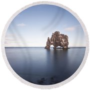 A Sea Of Thirst Round Beach Towel