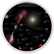 A Selection Of Galaxies Shown Round Beach Towel
