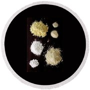 A Selection Of Gluten Free Flours Round Beach Towel