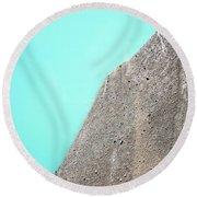 A Silty Glacier-dammed Lake Round Beach Towel