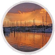 Round Beach Towel featuring the photograph A Sky Full Of Wonder - Florida Sunset by HH Photography of Florida