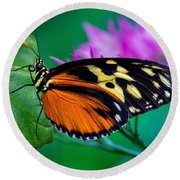 Round Beach Towel featuring the photograph A Splash Of Colour by Garvin Hunter