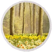 A Spring Day Round Beach Towel