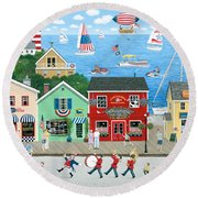 A Star Spangled Day   Round Beach Towel