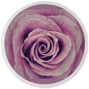 A Sugared Rose Round Beach Towel