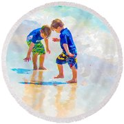A Summer To Remember Iv Round Beach Towel by Susan Molnar