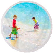 A Summer To Remember V Round Beach Towel by Susan Molnar