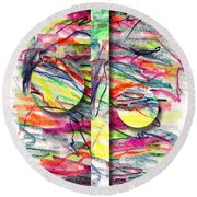 A Summers Day Breeze Round Beach Towel by Peter Piatt