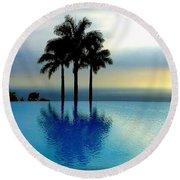 A Sunset Made Of Dreams Round Beach Towel by Lori Seaman