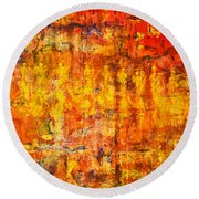 A Sunset Of Angels Round Beach Towel