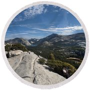 A Tenaya View Round Beach Towel