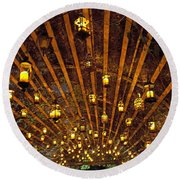 A Thousand Candles - Tunnel Of Light Round Beach Towel