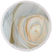 A Touch Of Peach Round Beach Towel