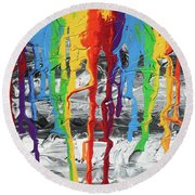 A Triumph Of Color Round Beach Towel
