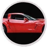 A Very Red Corvette Z6 Round Beach Towel