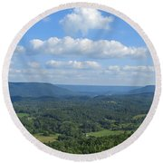A View For Days Round Beach Towel