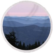 A View From Timberline Round Beach Towel