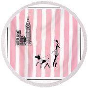 A Walk In London Round Beach Towel