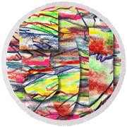A Walk In The Park  Round Beach Towel by Peter Piatt