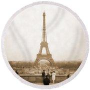 A Walk Through Paris 5 Round Beach Towel